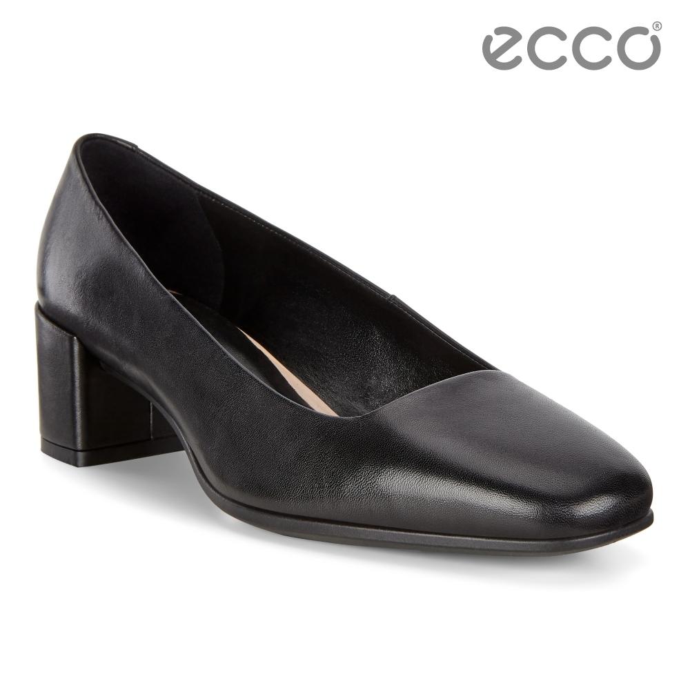 ECCO SHAPE 35 SQUARED 時裝粗跟方頭高跟鞋 女-黑