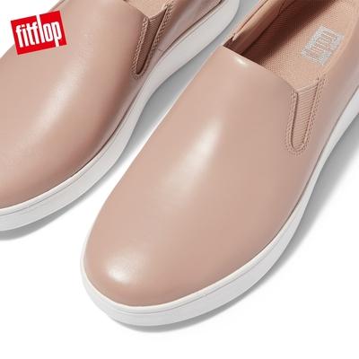 【FitFlop】RALLY SLIP-ON SNEAKERS 易穿脫時尚休閒鞋-女(米色)