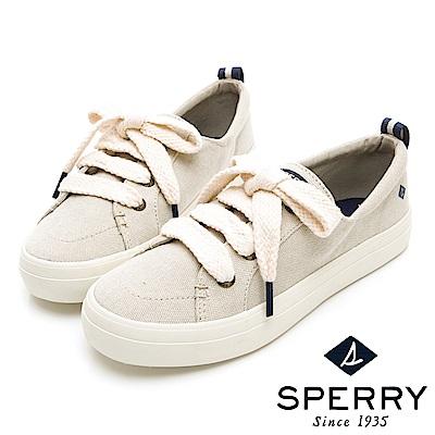 SPERRY 經典海軍麻繩帆布鞋(女)-象牙白