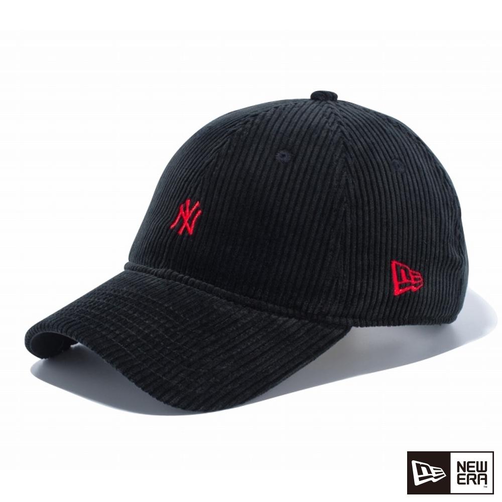 NEW ERA 9THIRTY 930 燈心絨 MINI LOGO NY 黑/紅 棒球帽