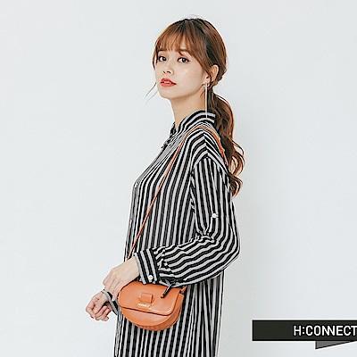 H:CONNECT 韓國品牌 -設計感側背小包-棕