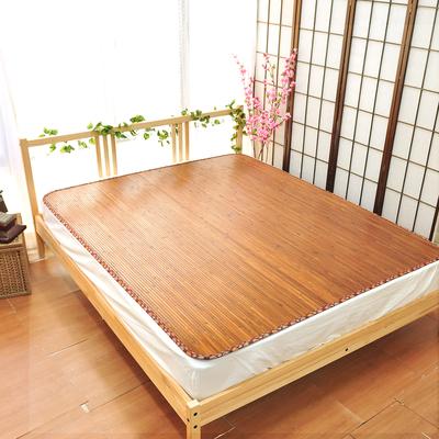 亞曼達Amanda 台灣中青碳化寬版天然竹涼蓆/涼墊/竹蓆 -單人3尺 (快速到貨)