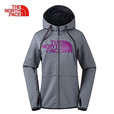 The North Face北面女款灰紫色保暖舒適休閒外套|3GE92RG
