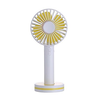 【團購】馬卡龍鏡子風扇 USB手持迷你電風扇/桌扇 化妝鏡 4入組