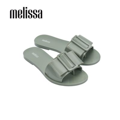 Melissa BABE扣環造型一字拖鞋-綠