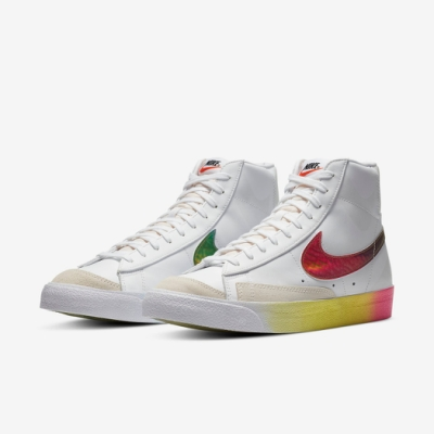 Nike 休閒鞋 Blazer MID 77 運動 男鞋 經典款 復古 穿搭 漸層色 皮革 簡約 白 彩 CZ8653136
