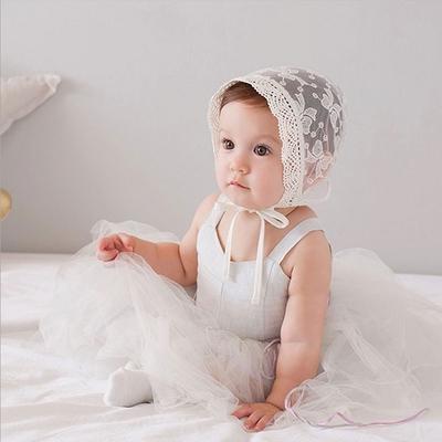 Baby童衣 寶寶刺繡蕾絲帽 宮廷帽 新生兒藝術照帽 88763