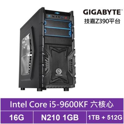 技嘉Z390平台[天璇騎兵]i5六核N210獨顯電玩機