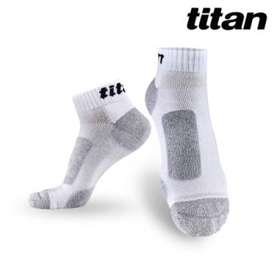 【titan】太肯 3雙功能慢跑訓練襪_白竹炭(純棉、厚底)