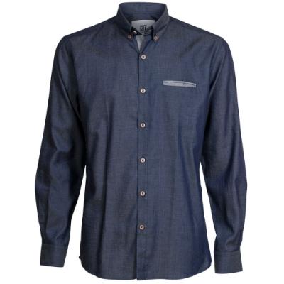 CR7-Slim Fit  雙扣領經典藍襯衫 (8682-72-49)