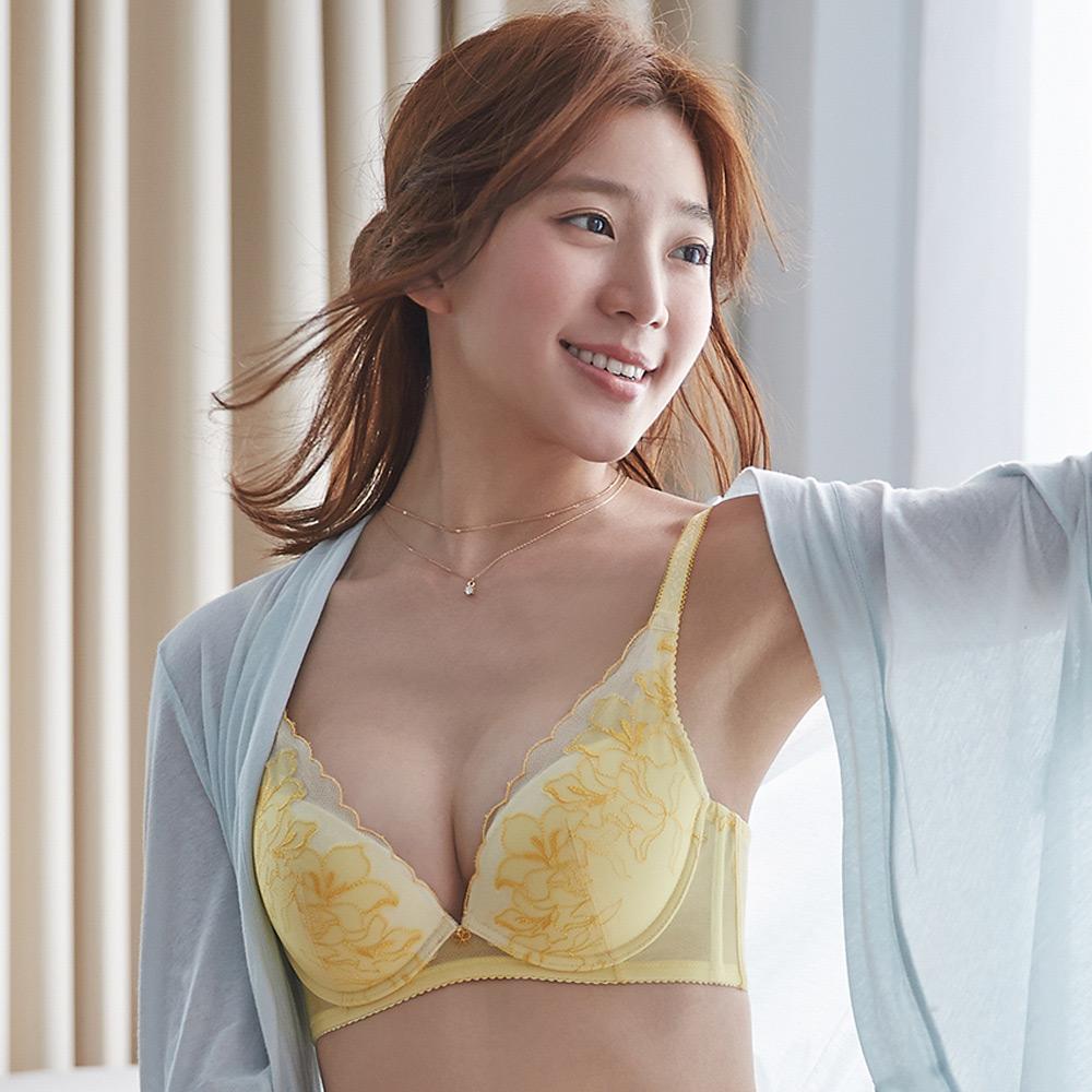 蕾黛絲-愛樂芙V真水 D罩杯內衣(清新甜黃)