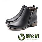 W&M 輕質素面雙拉鍊短靴 女鞋 - 黑(另有棕)