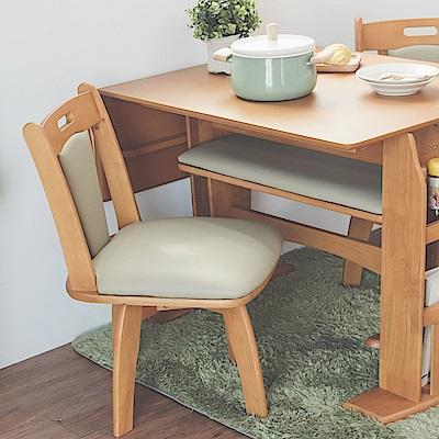 Home Feeling 餐椅2入/椅子/書桌椅/可旋轉式(2色)