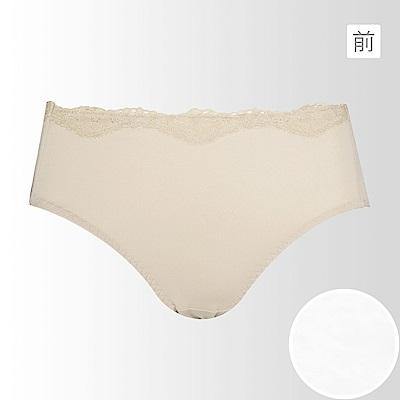 黛安芬-Stretty舒涼紗無痕內褲 M-EQ 純色白