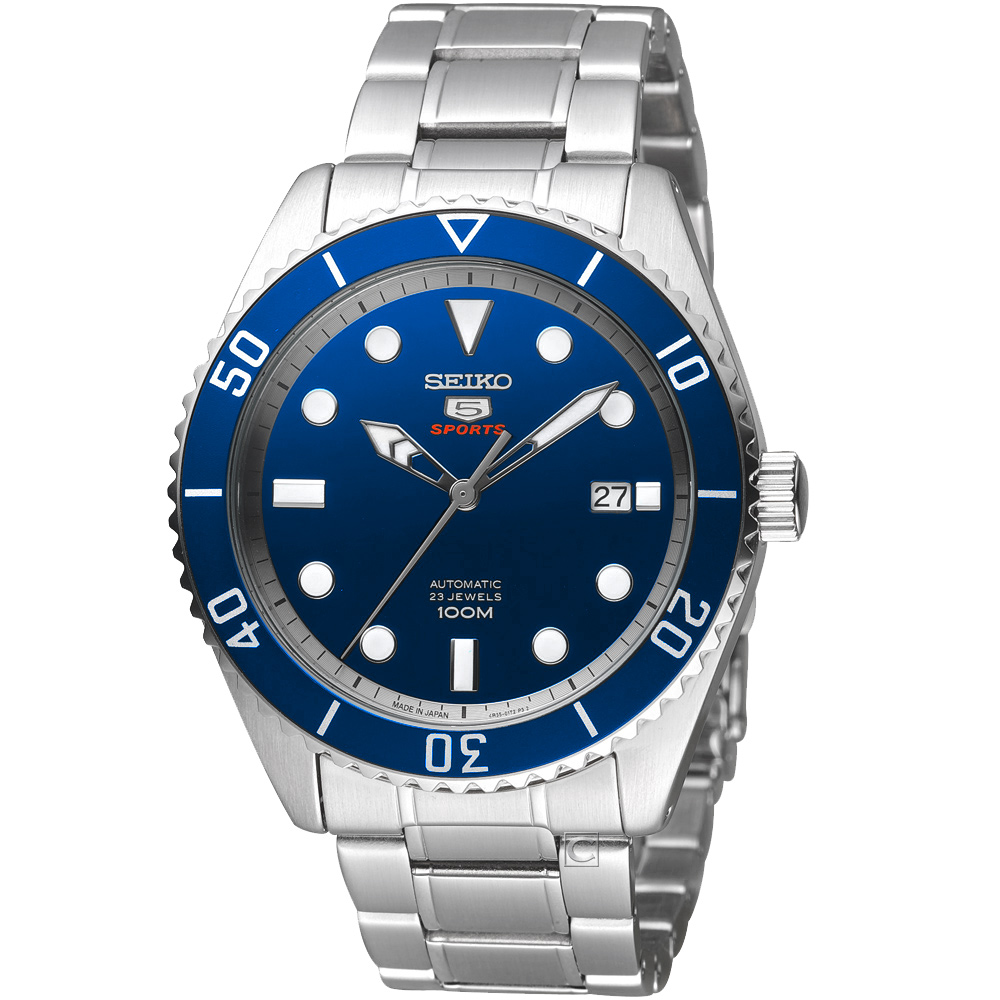SEIKO精工5號23石復刻盾牌機械錶(SRPB89J1)-藍