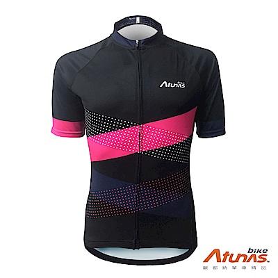 《Atunas Bike》歐都納 單車 AB19012 潮流粉酷短車衣 黑粉