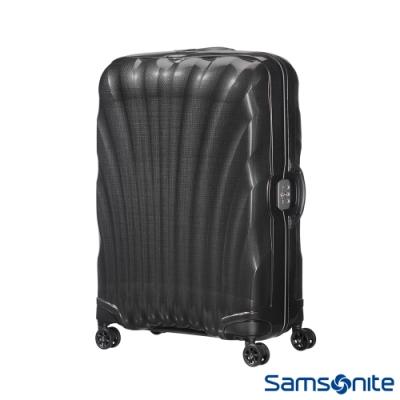 Samsonite新秀麗 25吋Lite-Locked FL極輕Curv材質貝殼飛機輪行李箱(黑)