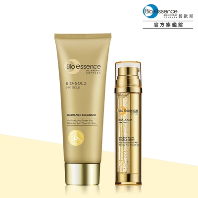 Bio-essence碧歐斯 金萃黃金比例雙精華36g+金萃喚膚潔面霜100g
