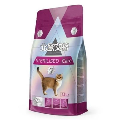(2包組)【北歐艾格】絕育貓專用配方1.8kg