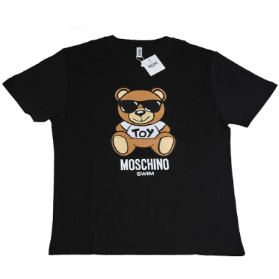 MOSCHINO TOY小熊 LOGO圖騰100%棉質T恤(黑/L)
