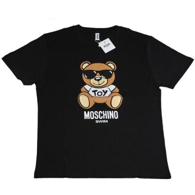 MOSCHINO TOY小熊 LOGO圖騰100%棉質T恤(黑/M)