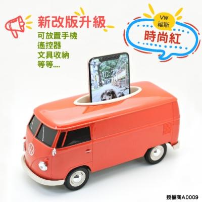 福斯 T1 Bus 復古經典面紙盒 Welly原廠授權 新版 汽車造型面紙盒 紅色