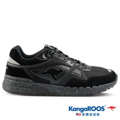 KangaROOS 美國袋鼠鞋 男 SHIELD 潮山野復古跑鞋(黑-KM11180)