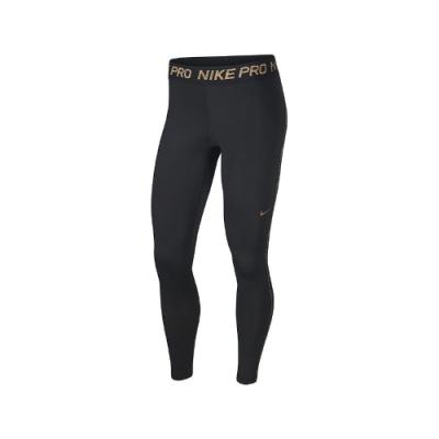 Nike 緊身褲 Warm Metallic 運動 女款