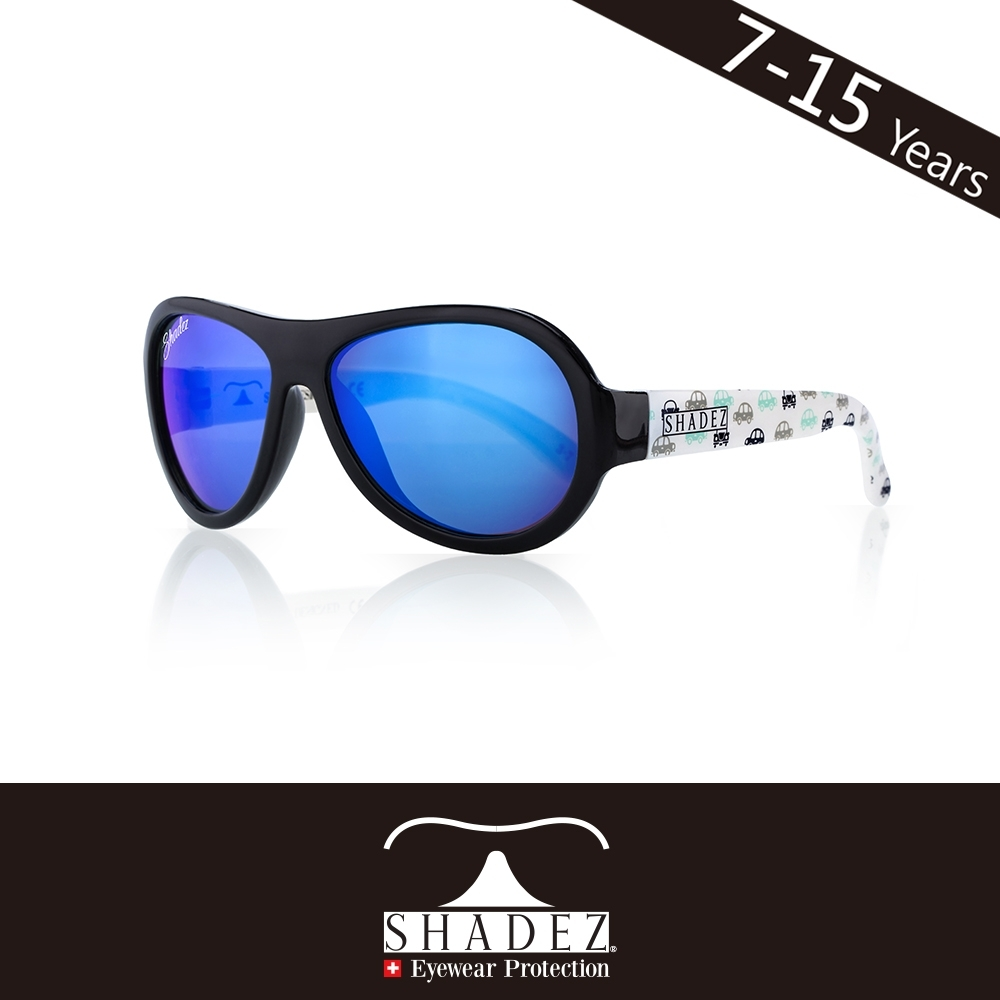 瑞士 SHADEZ 兒童太陽眼鏡 【圖騰設計款-黑白車車 SHZ-63】7 - 15歲