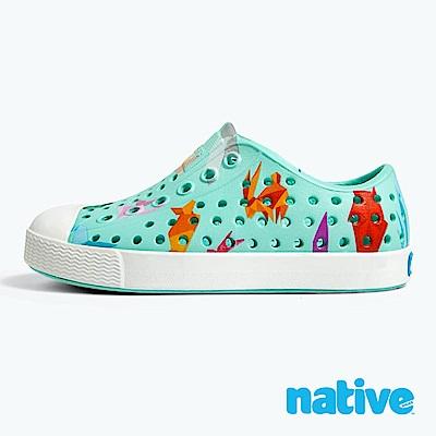native 大童鞋 JEFFERSON 小奶油頭鞋-摺紙藍
