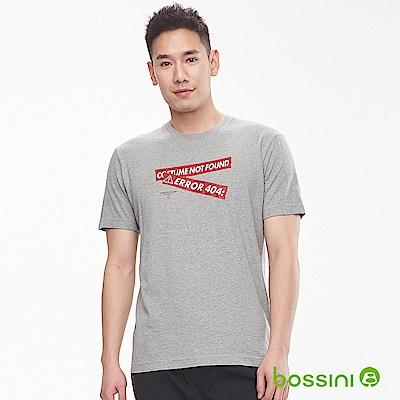 bossini男裝-印花短袖T恤18淺灰