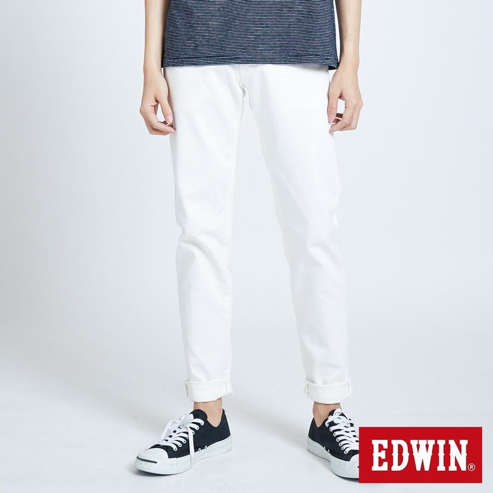 EDWIN 503 BASIC 基本純色 AB休閒褲-男-白色