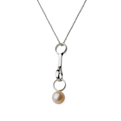 Georg Jensen sphere 珍珠+純銀項鍊