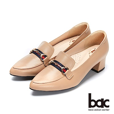 bac經典回歸-尖頭粗跟樂福鞋高跟鞋