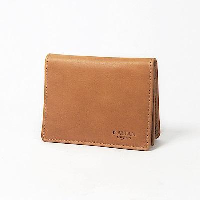 CALTAN-名片夾 卡片夾 真皮小物 牛皮 名片盒 上班族必備-1764ht