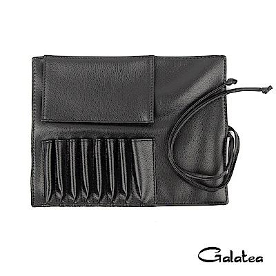 Galatea葛拉蒂 8孔短柄刷具收納皮套