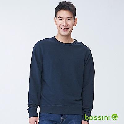 bossini男裝-圓領厚棉T恤01海軍藍