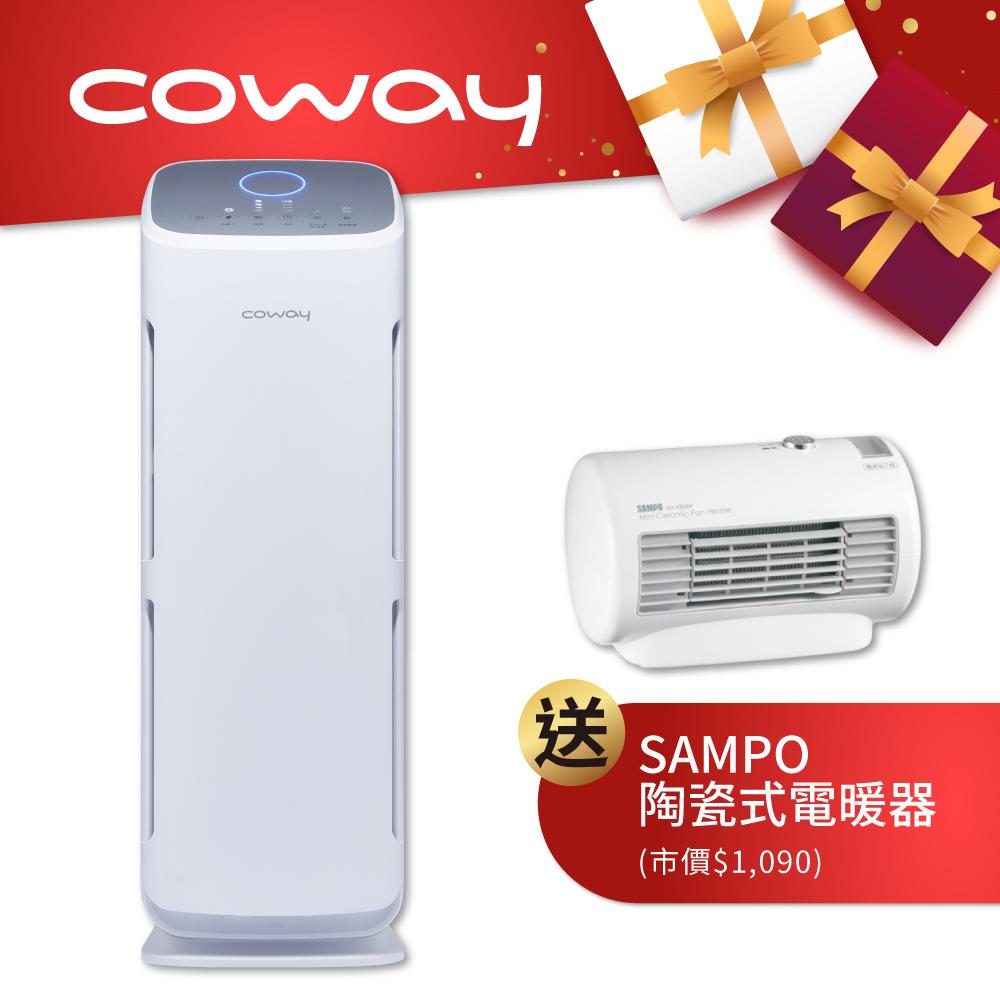 Coway 18坪 綠淨力立式空氣清淨機AP-1216L 送聲寶電暖器