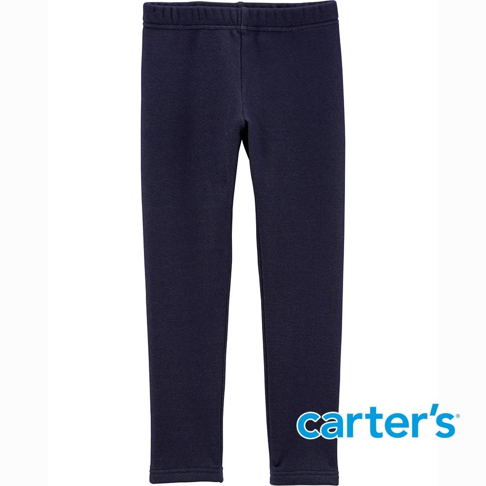 【Carter's】深藍素色丹寧內搭褲(5-8)  (台灣總代理)