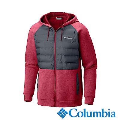 Columbia哥倫比亞 男款-防潑快排連帽外套-紅色UAE05200RD