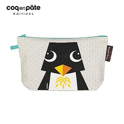 【COQENPATE】法國有機棉無毒環保化妝包 / 筆袋- 畫筆兒的家 - 企鵝
