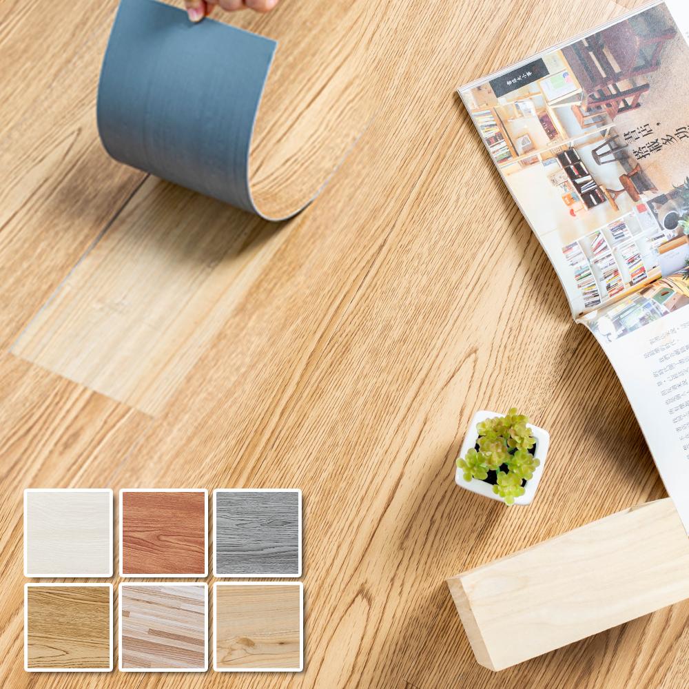樂嫚妮 DIY 40片塑膠PVC仿木紋DIY塑膠地板/地貼