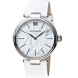 姬龍雪Guy Laroche Timepieces大理石紋理時尚錶(GW1025B-01)