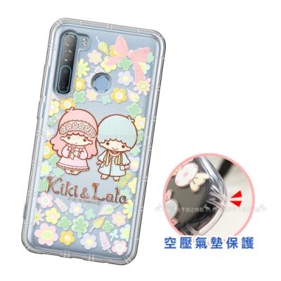 三麗鷗授權 KiKiLaLa雙子星 HTC Desire 20 Pro  愛心空壓手機殼(鄉村)