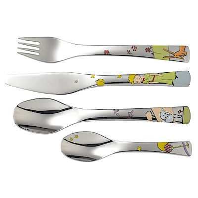 WMF 小王子不鏽鋼兒童餐具 4件組