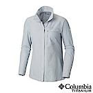 Columbia哥倫比亞 女款-鈦  防曬UPF30極輕量長袖襯衫-灰色