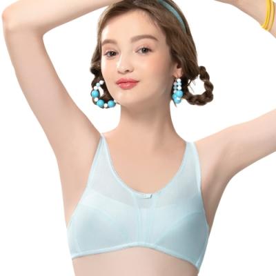 思薇爾 棉花糖純真風系列A-B罩無鋼圈包覆內衣(水藍色)