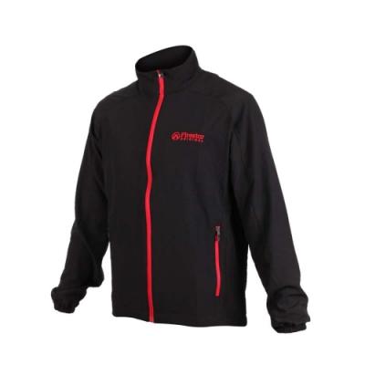 FIRESTAR 男彈力機能外套-慢跑 路跑 健身 訓練 立領外套 黑紅