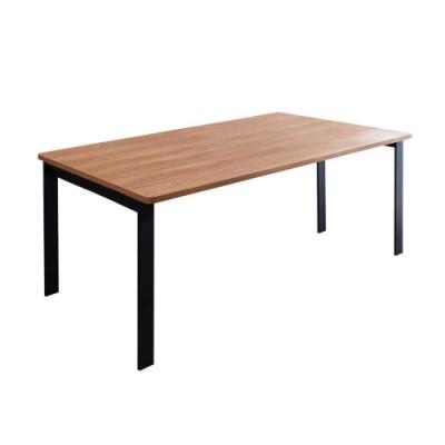 Birdie-工業風6尺鋁合金長桌/餐桌/會議桌/工作桌-T1型180×90cm-180x90x74cm