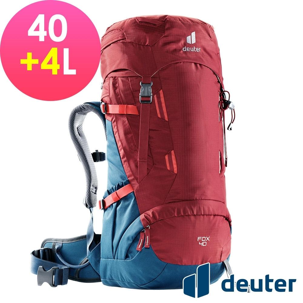 【deuter 德國】FOX 40+4L拔熱背包3611221紅/藍/登山健行包/休閒旅遊包/青少年適用*